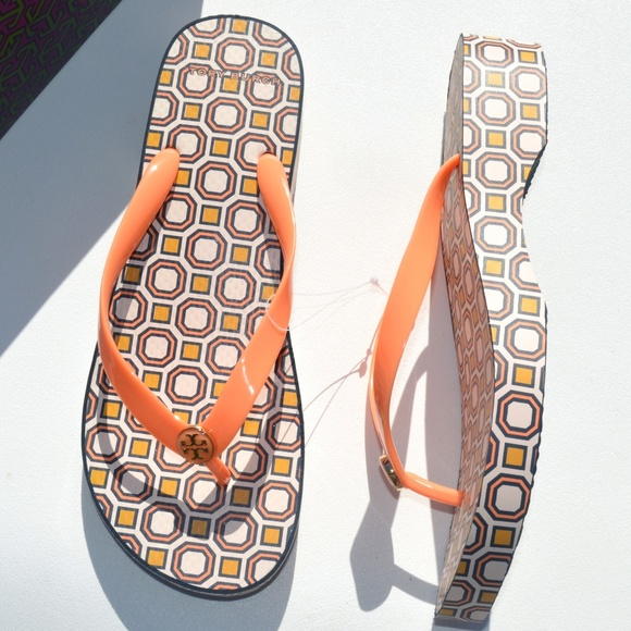 797ef5419 Tory Burch Printed Carved Wedge Sandals Size 10